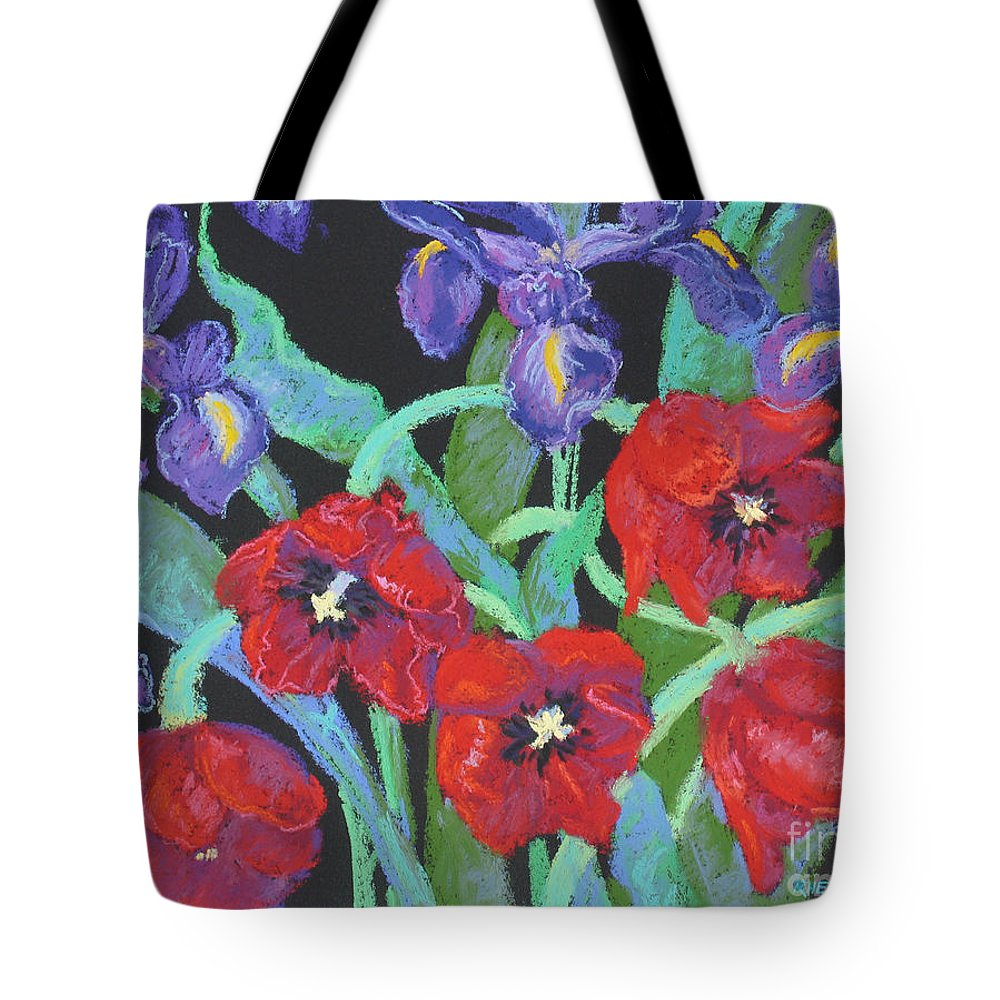 Flowers Tote Bag featuring the painting My Birthday Bouquet by Rhett Regina Owings