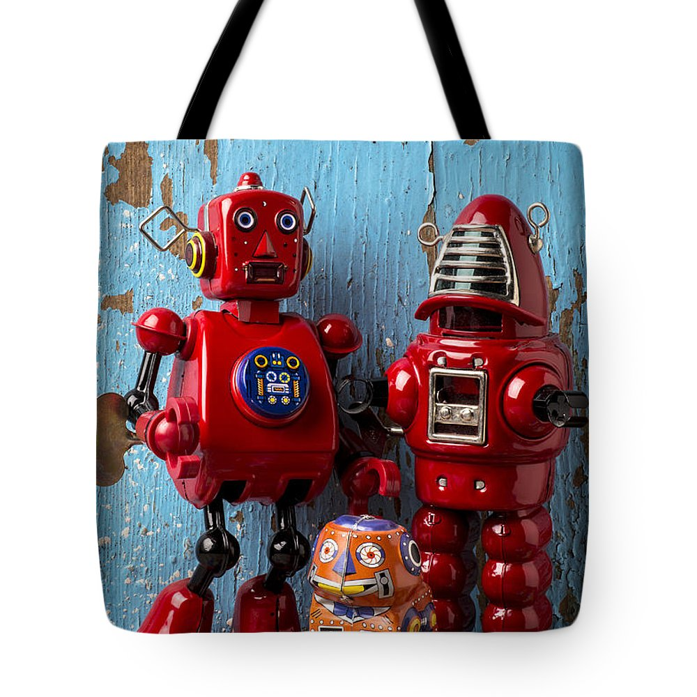 Robots Tote Bag featuring the photograph My Bots by Garry Gay