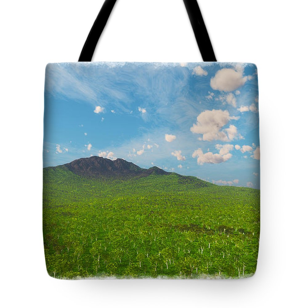 Earth Tote Bag featuring the digital art My Earth Our Earth... by Tim Fillingim