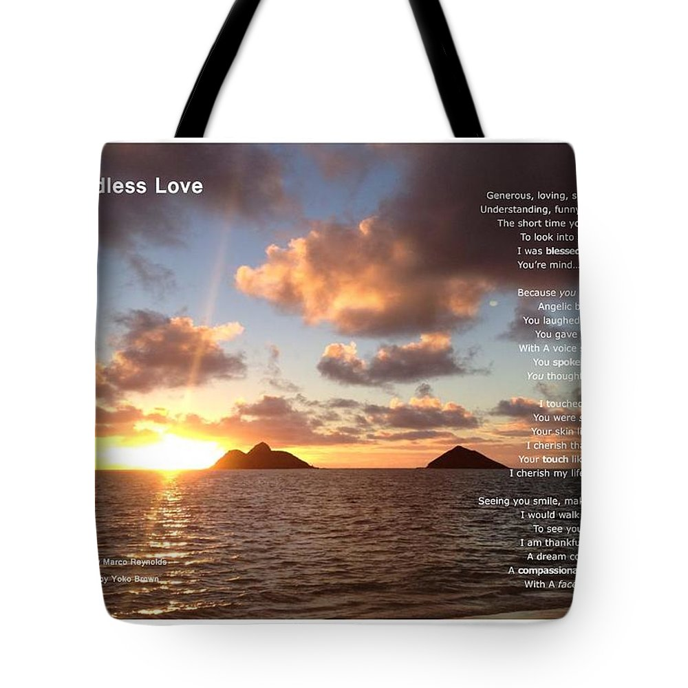 Marco Reynolds Tote Bag featuring the photograph My Endless Love by Marco Reynolds
