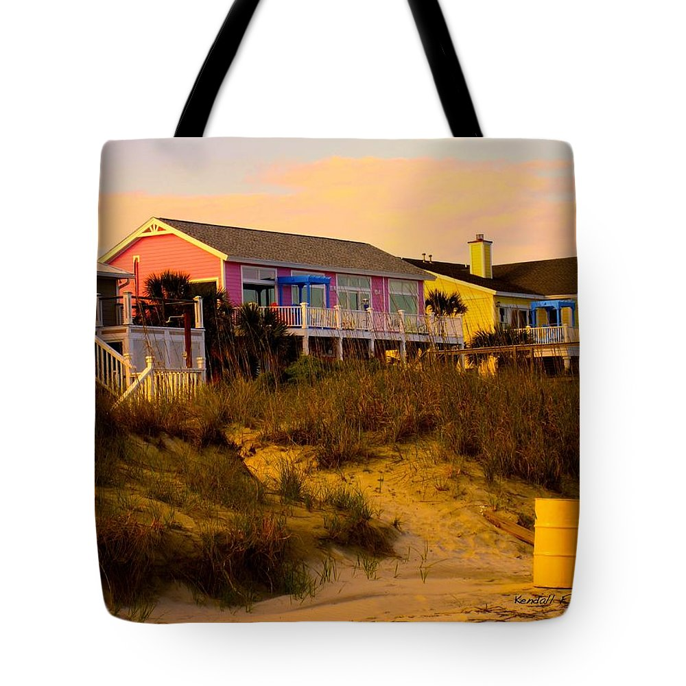 Kendall Kessler Tote Bag featuring the photograph My Feet In The Sand At Isle Of Palms by Kendall Kessler