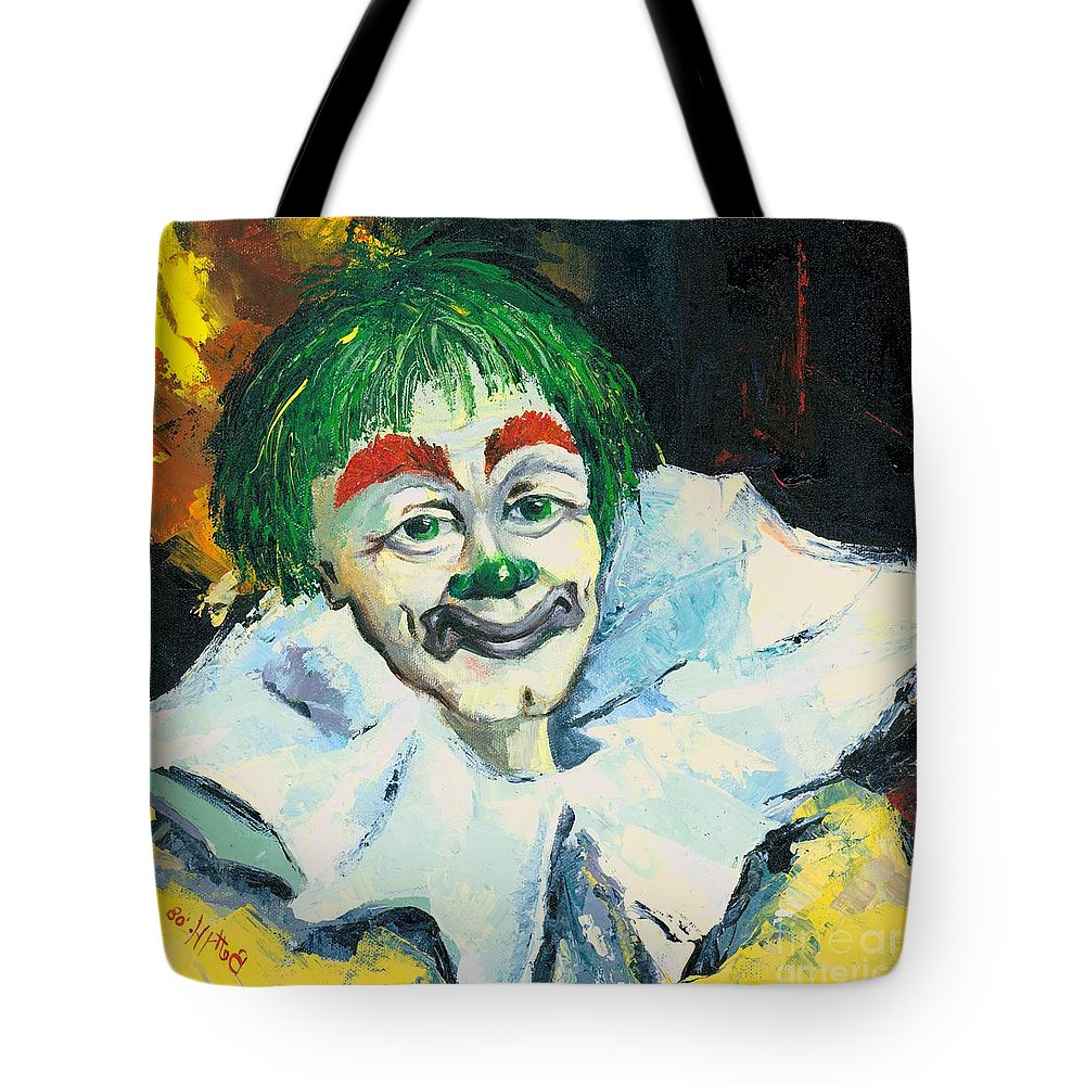 Canvas Prints Tote Bag featuring the painting My Friend by Elisabeta Hermann