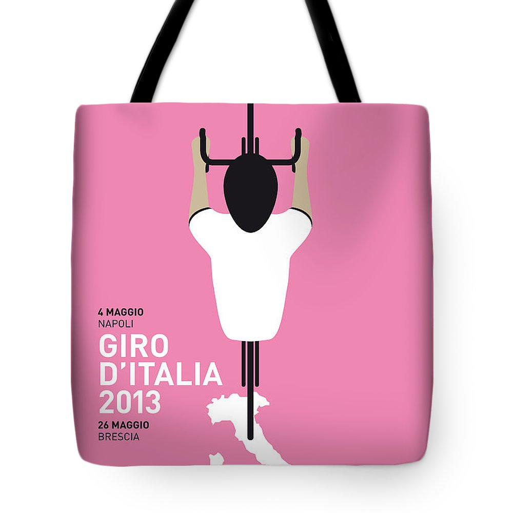 2013 Tote Bag featuring the digital art My Giro D'italia Minimal Poster by Chungkong Art