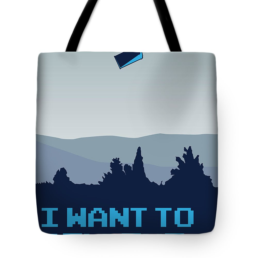 Classic Tote Bag featuring the digital art My I Want To Believe Minimal Poster- Tardis by Chungkong Art