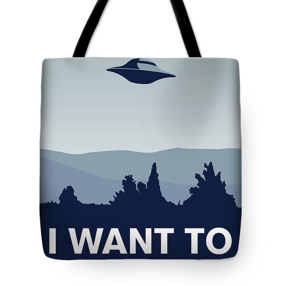 Classic Tote Bag featuring the digital art My I Want To Believe Minimal Poster-xfiles by Chungkong Art