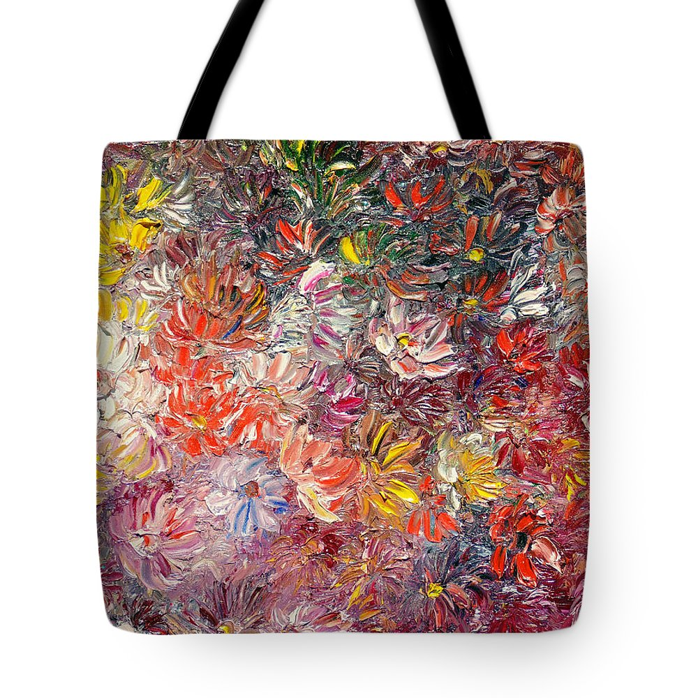 Abstract Tote Bag featuring the painting My Pretty Pallet by Karin Dawn Kelshall- Best