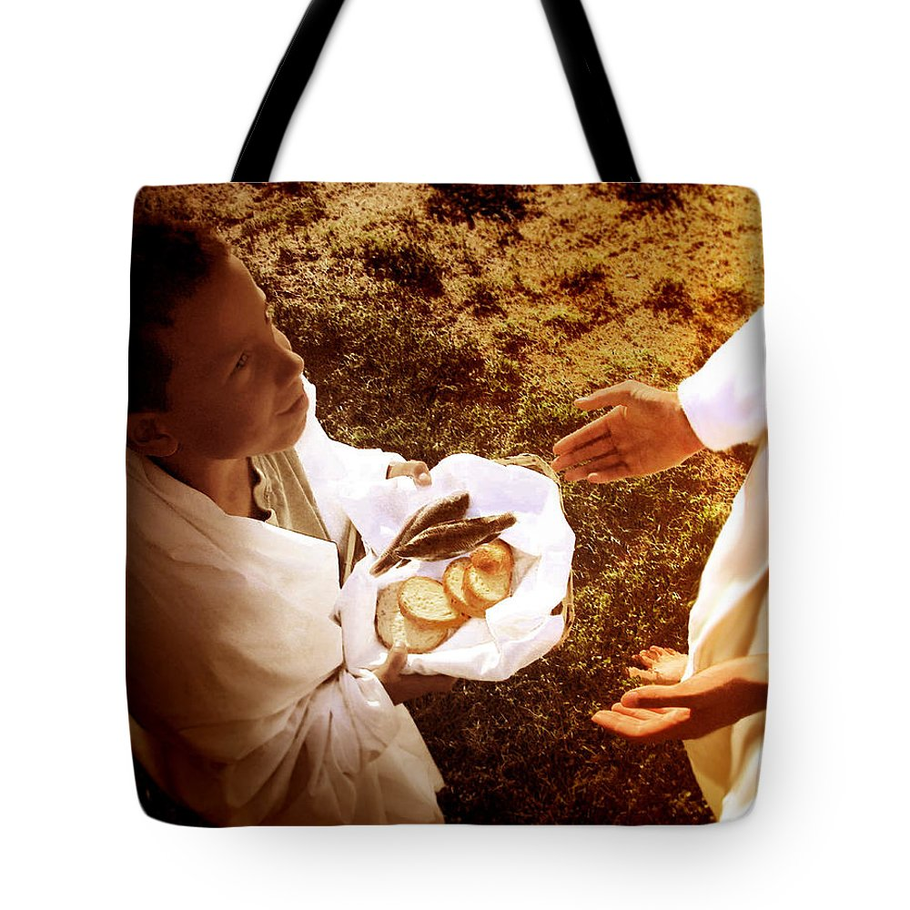 My Provider Tote Bag featuring the painting My Provider by Jennifer Page