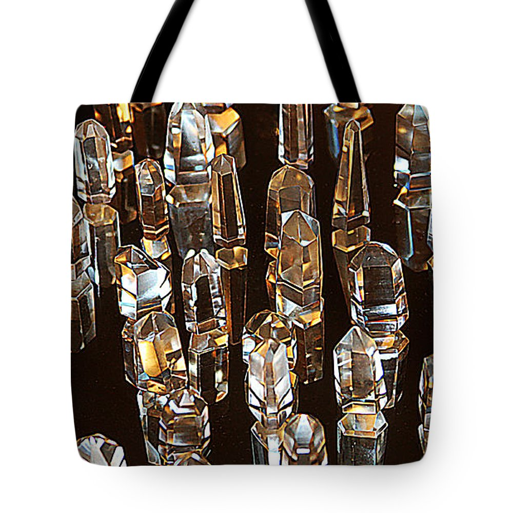 My Quartz Crystal Collection Tote Bag featuring the photograph My Quartz Crystal Collection by Tom Janca