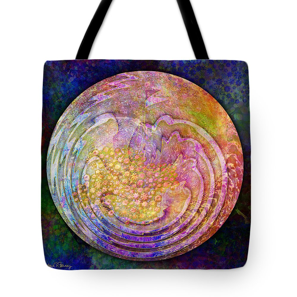 Garden Tote Bag featuring the digital art My Secret Garden by Barbara Berney