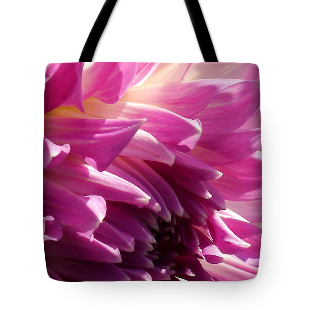 Pink Dahlia Tote Bag featuring the photograph My Soul by Christiane Schulze Art And Photography