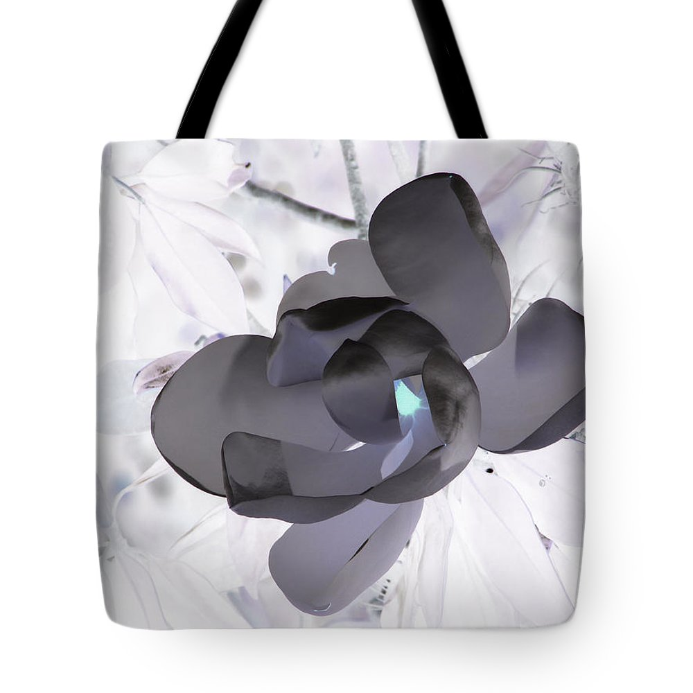 Magnolia Tote Bag featuring the photograph My Steel Magnolia by Debi Singer