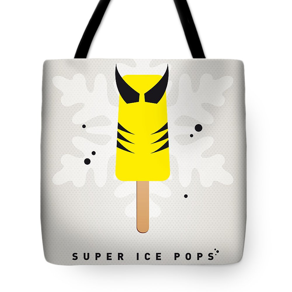 Superheroes Tote Bag featuring the digital art My Superhero Ice Pop - Wolverine by Chungkong Art
