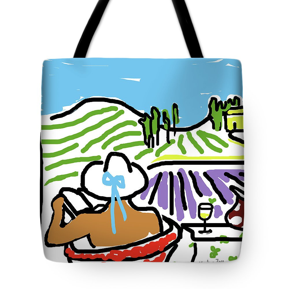 Digital Art Tote Bag featuring the painting My Tuscany Dream 2 by Xueling Zou