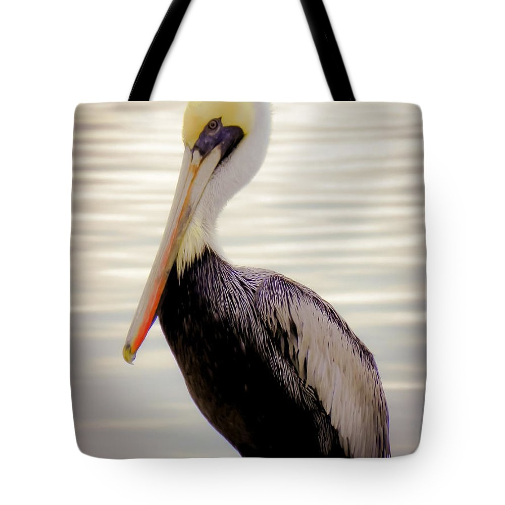 Bird Tote Bag featuring the photograph My Visitor by Karen Wiles