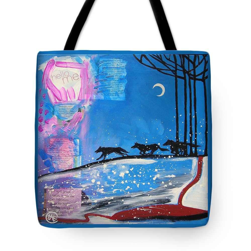 Cat Athena Louise Paintings Tote Bag featuring the painting My Wildish Nature by Catherine Athena Louise