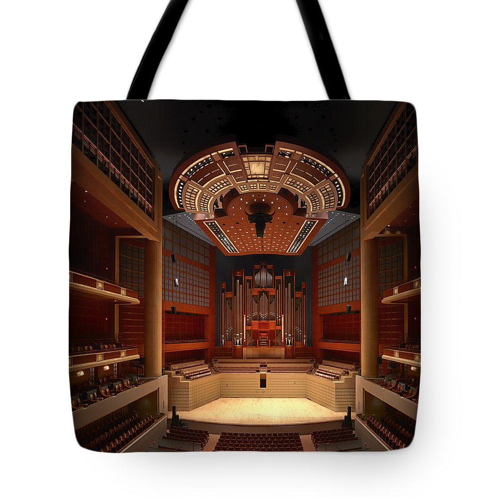 Dallas Tote Bag featuring the photograph Myerson Symphony Center Auditorium - Dallas by Mountain Dreams