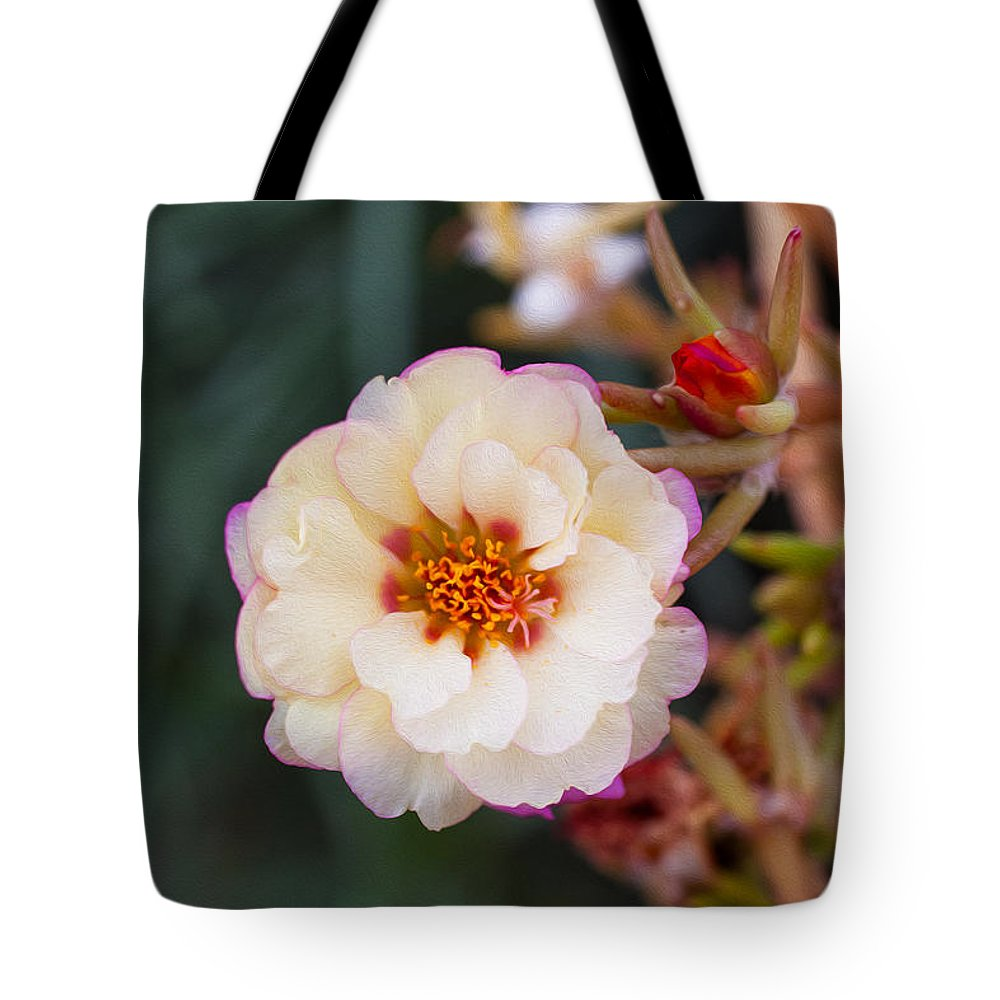 North Cascades Tote Bag featuring the painting Mysterious Sedum by Omaste Witkowski