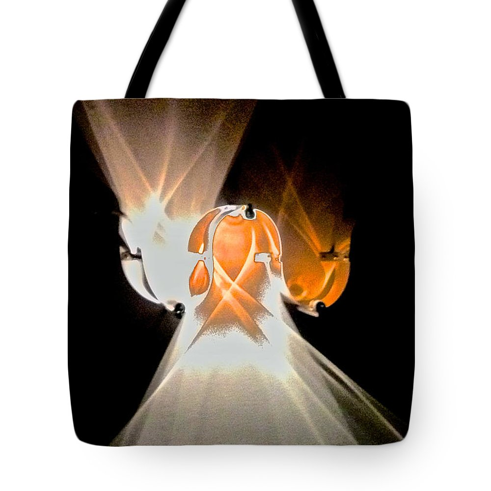 Abstract Tote Bag featuring the photograph Kinetic Mysteries by Venetia Featherstone-Witty