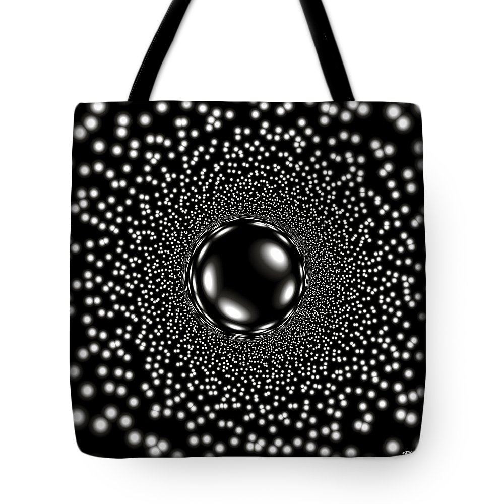 Mystery Tote Bag featuring the digital art Mystery Sphere by Brian Kenney