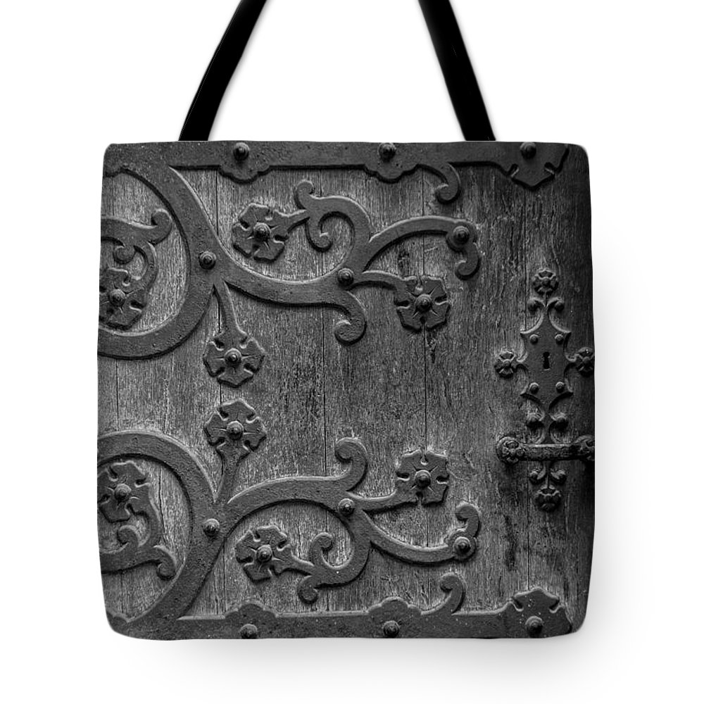 Mystical Tote Bag featuring the photograph Mystical Door by Edgar Laureano
