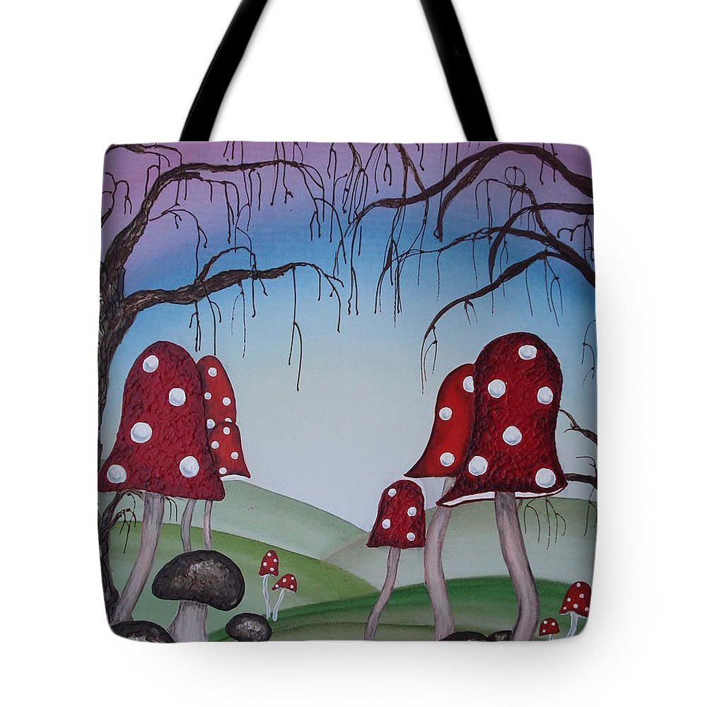 Forest Tote Bag featuring the painting Mysticle Forest by Krystyna Spink