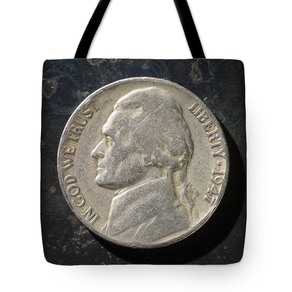 Americana Tote Bag featuring the photograph N 1947 A H by Robert Mollett