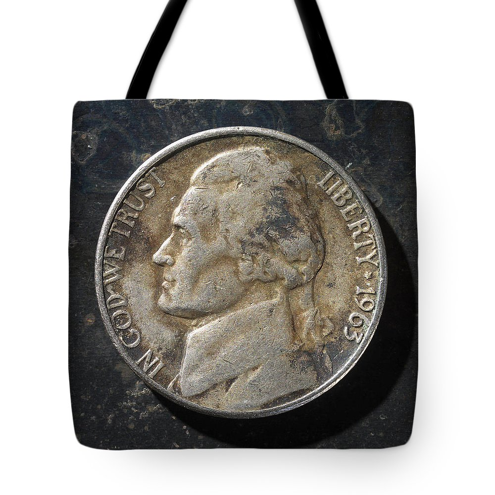 Americana Tote Bag featuring the photograph N 1963 A H by Robert Mollett