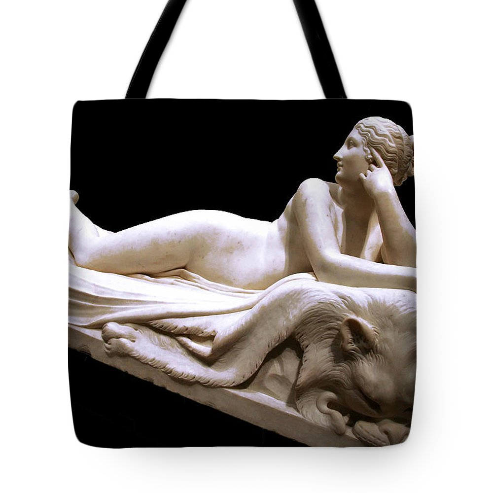Naiad Tote Bag featuring the photograph Canova's Naiad by Cora Wandel