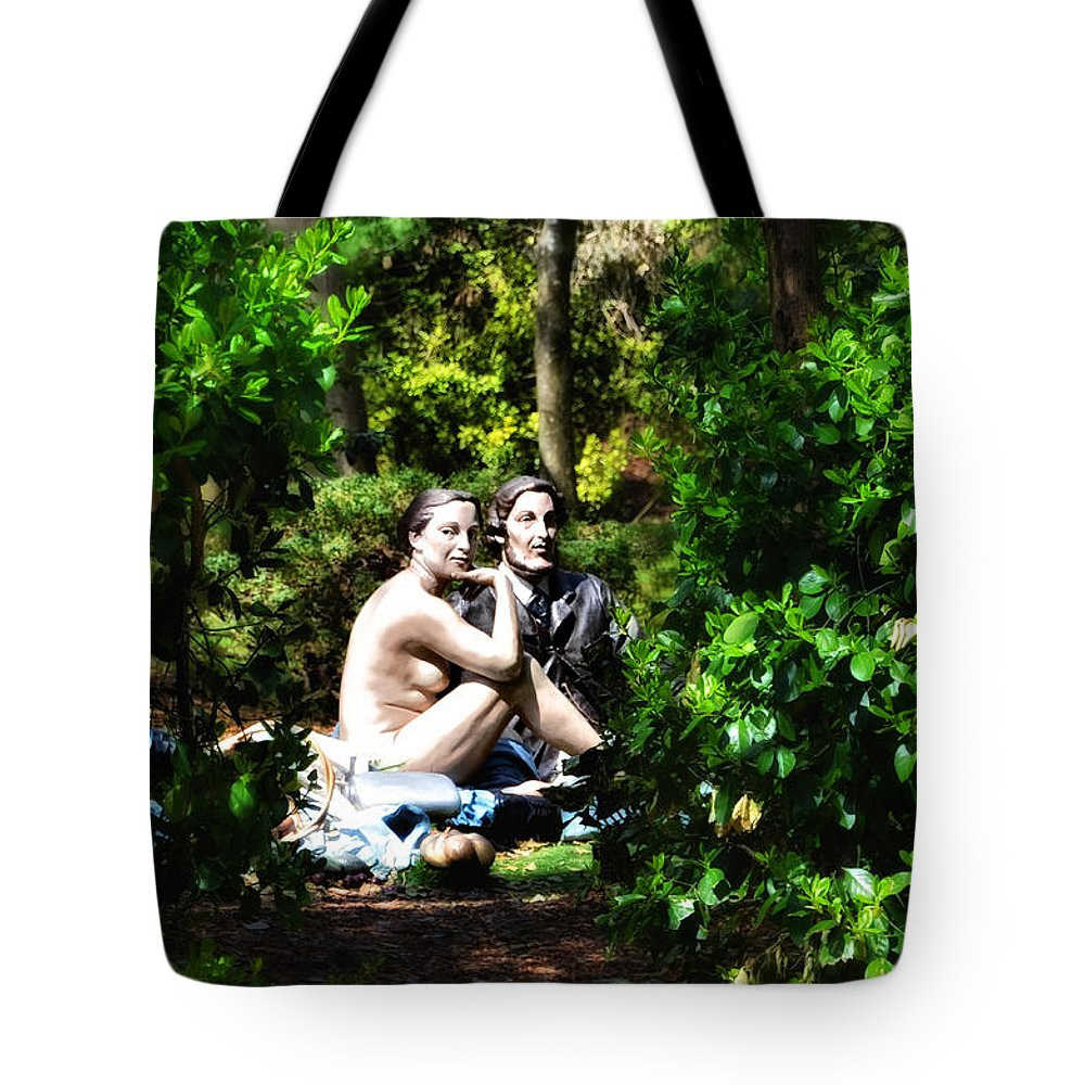 Naked Tote Bag featuring the photograph Naked Lunch by Bill Cannon