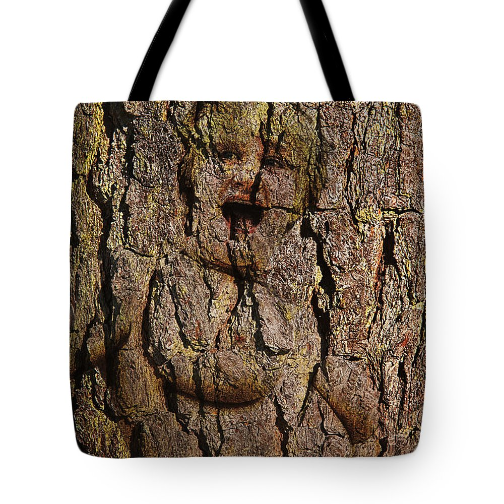 Wood Nymph Tote Bag featuring the digital art Naked Wood Nymph by John Haldane