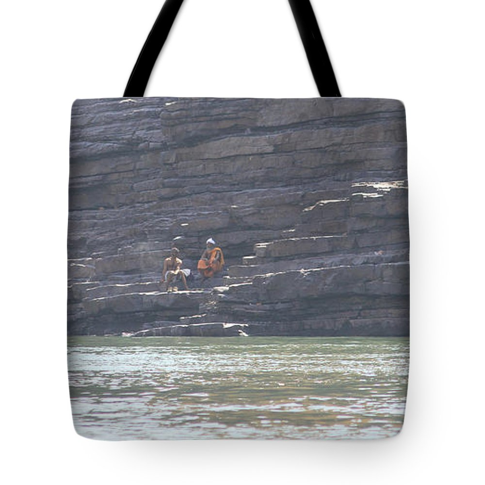 Sadhu Tote Bag featuring the photograph Namaste by Four Hands Art