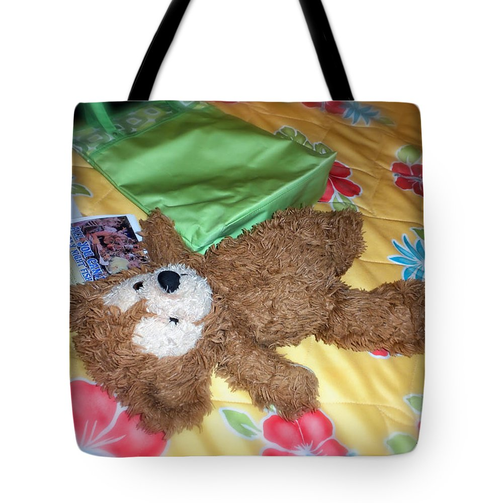 Fantasy Tote Bag featuring the photograph Nap Time Bear by Thomas Woolworth