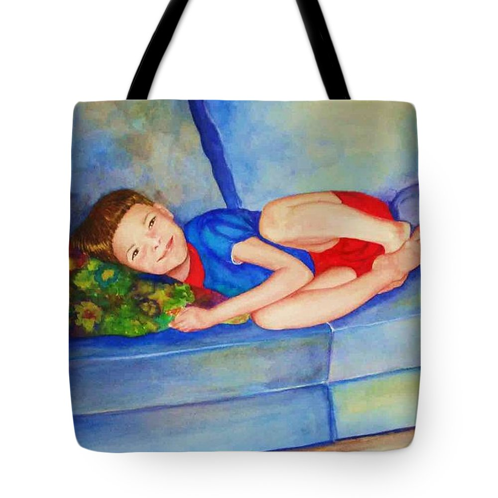 Nap Time Tote Bag featuring the painting Nap Time by Jane Ricker