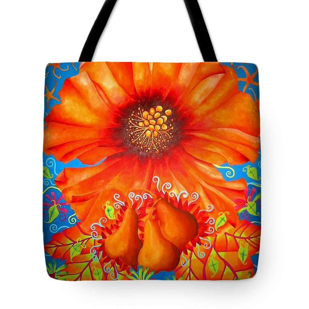 Orange Tote Bag featuring the painting Naranj by Elizabeth Elequin