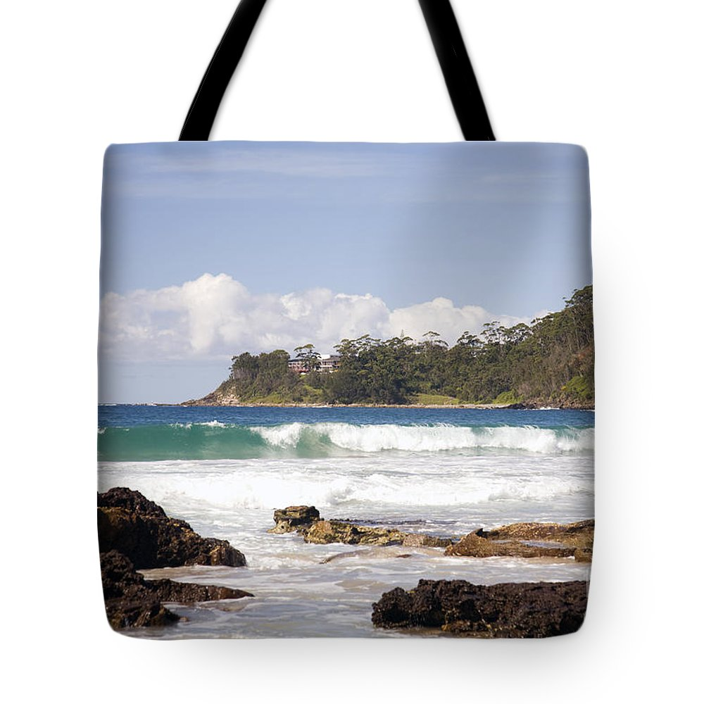 Beach Tote Bag featuring the photograph Narrawallee Beach On The South Coast Of New South Wales Australia by Martin Berry