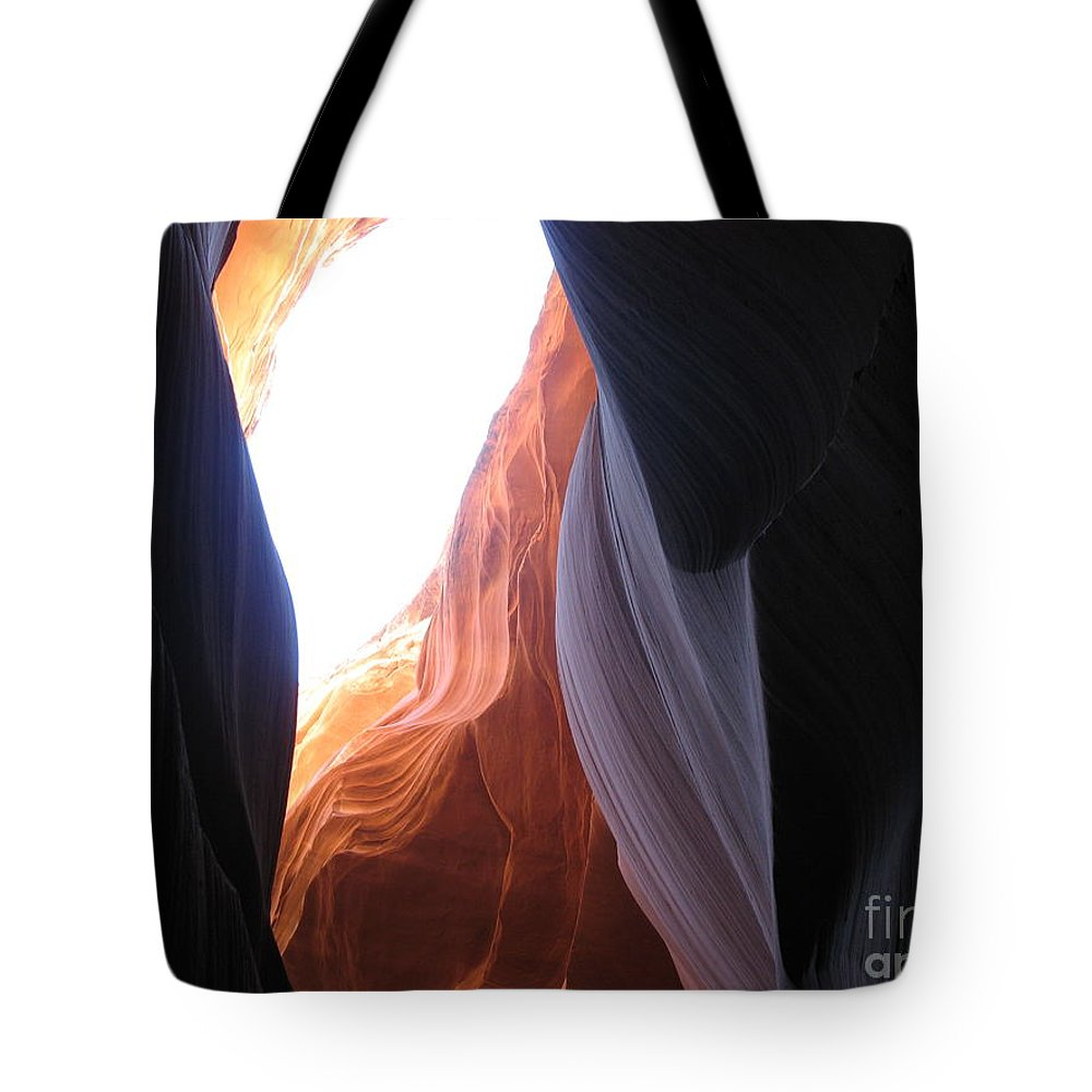 Canyon Tote Bag featuring the photograph Narrow Canyon V by Christiane Schulze Art And Photography