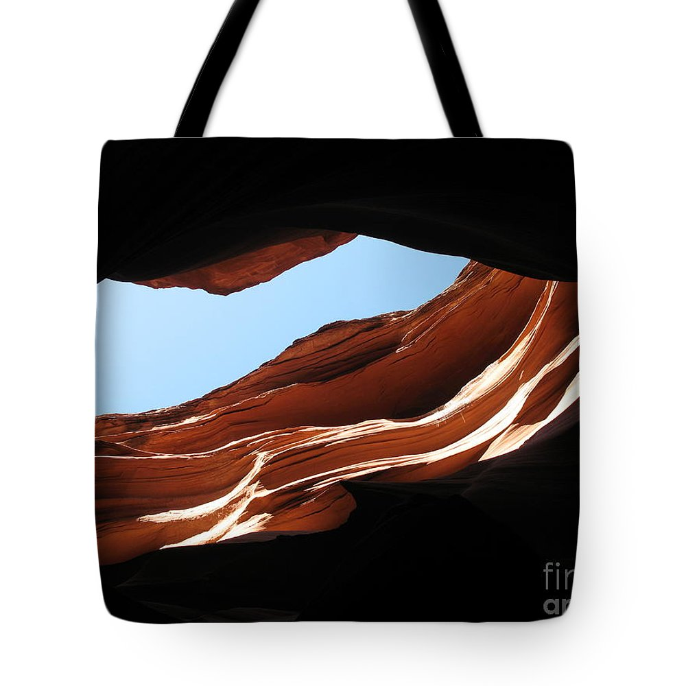 Canyon Tote Bag featuring the photograph Narrow Canyon Vi by Christiane Schulze Art And Photography