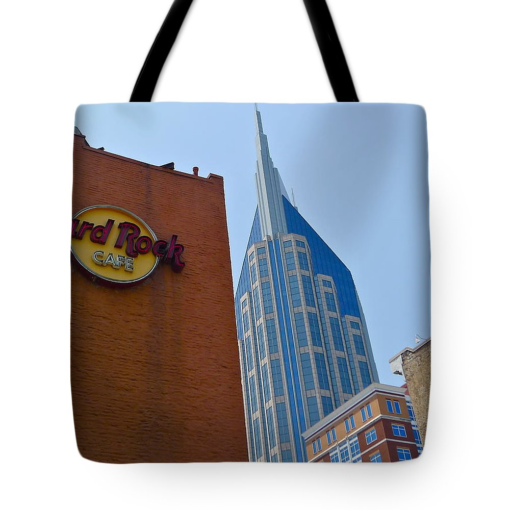 Nashville Tote Bag featuring the photograph Nashville Downtown by Denise Mazzocco