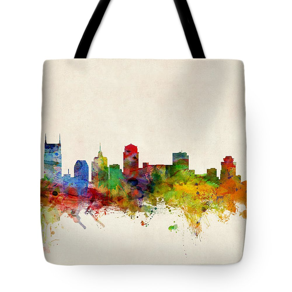 Nashville Skyline Tote Bags