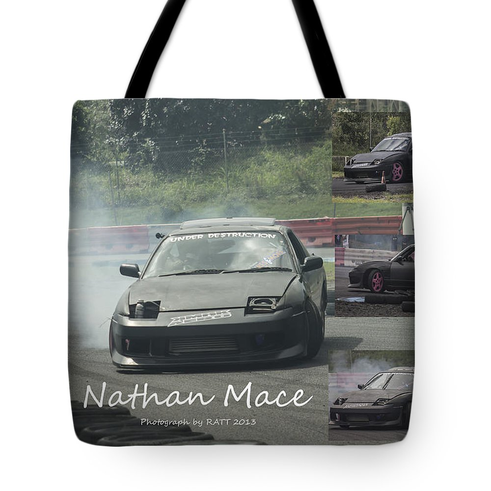 Cars Tote Bag featuring the photograph Nathan Mace by Michael Podesta