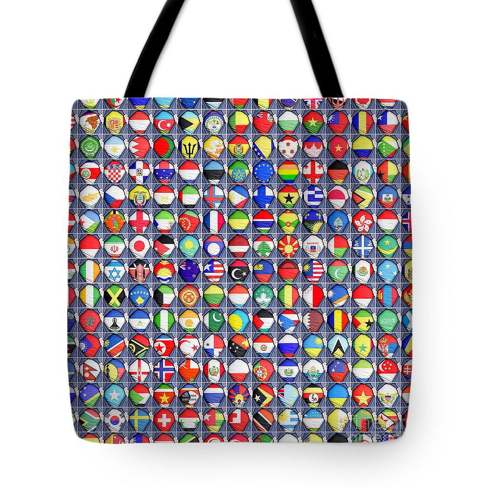 United Tote Bag featuring the photograph Nations United by Antony McAulay
