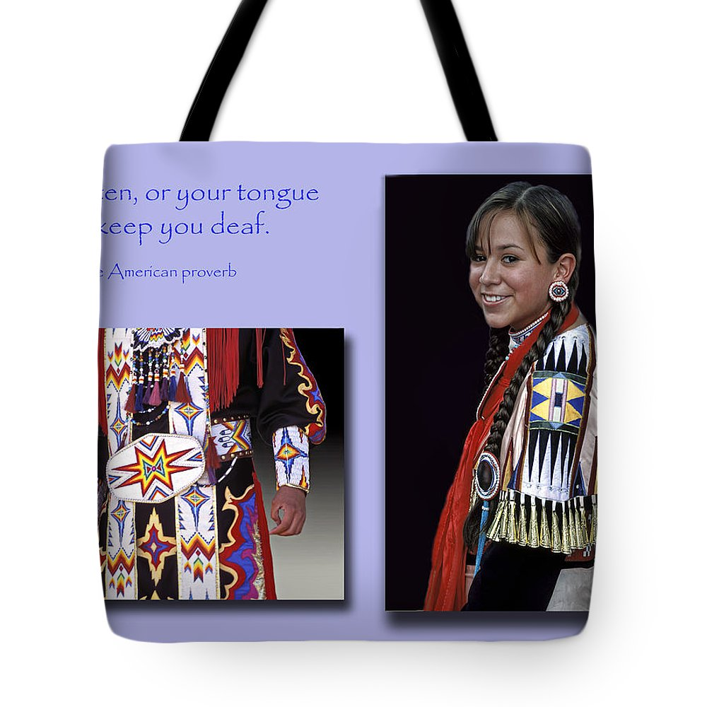 Native American Proverb Tote Bag featuring the photograph Native American Proverb by Dave Mills