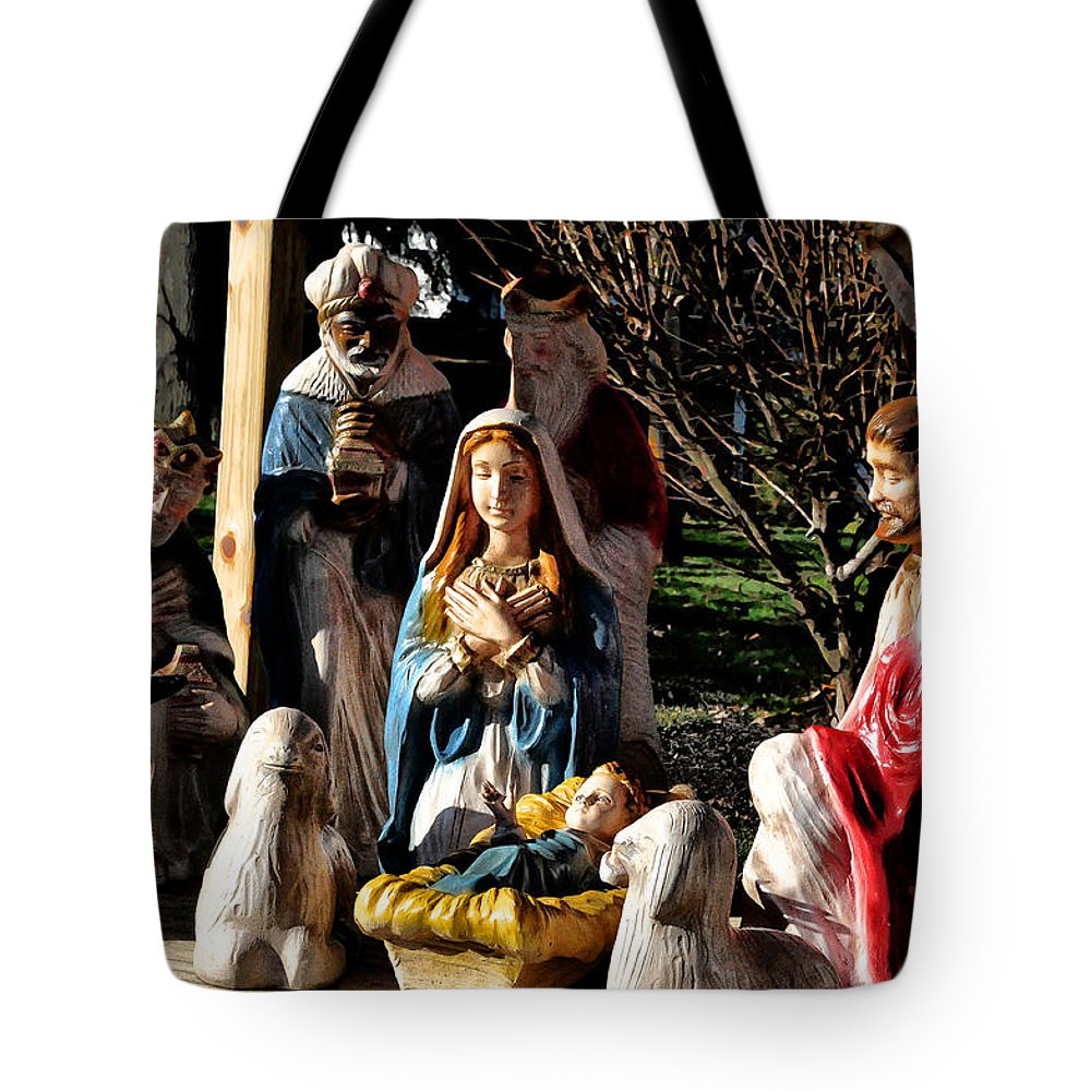 Nativity Tote Bag featuring the photograph Nativity by Bill Cannon