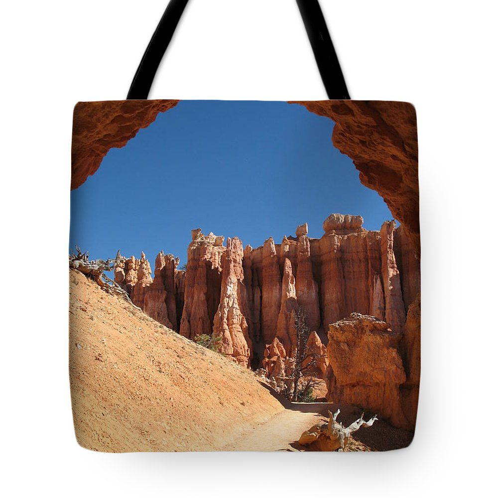 Arch Tote Bag featuring the photograph Natural Archway - Bryce Canyon by Christiane Schulze Art And Photography