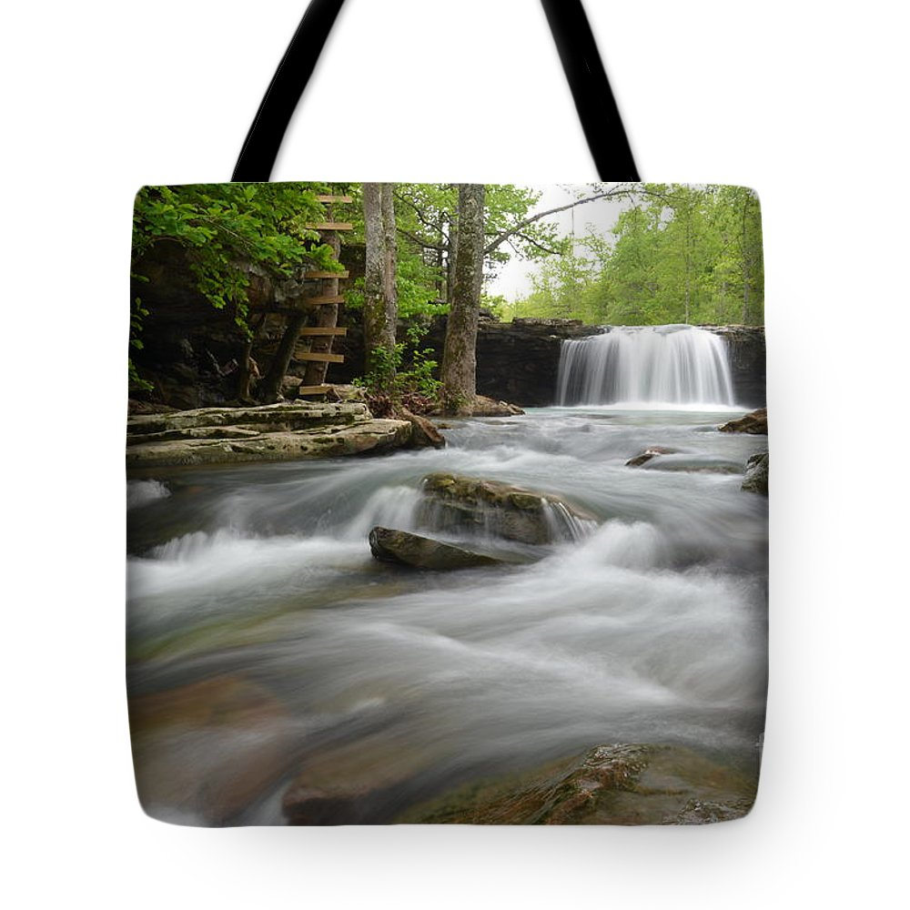 Falling Water Falls Tote Bag featuring the photograph Natural Beauty by Deanna Cagle
