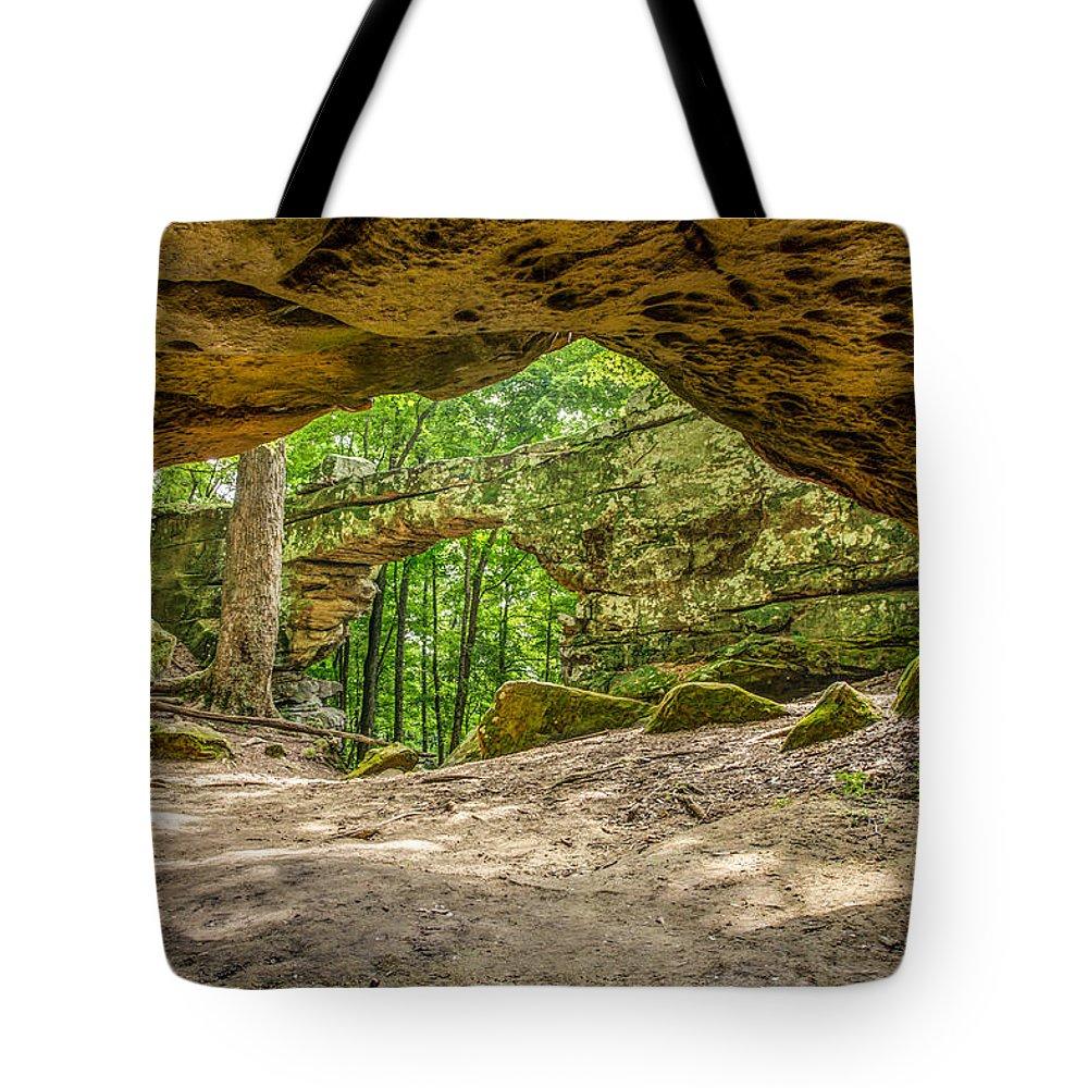 Natural Bridge Sewannee Tn Tote Bag featuring the photograph Natural Bridge Cave by Bobby Hicks