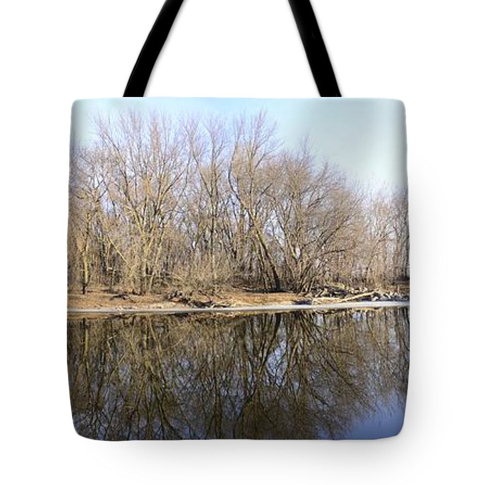 Mirror Tote Bag featuring the photograph Natural Mirror by Bonfire Photography