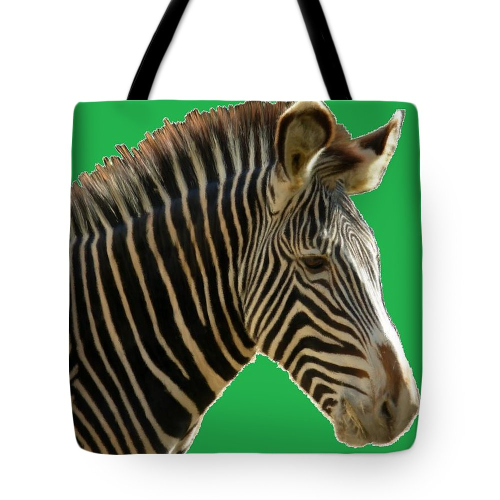Animal Tote Bag featuring the painting Natural Zebra by Bruce Nutting