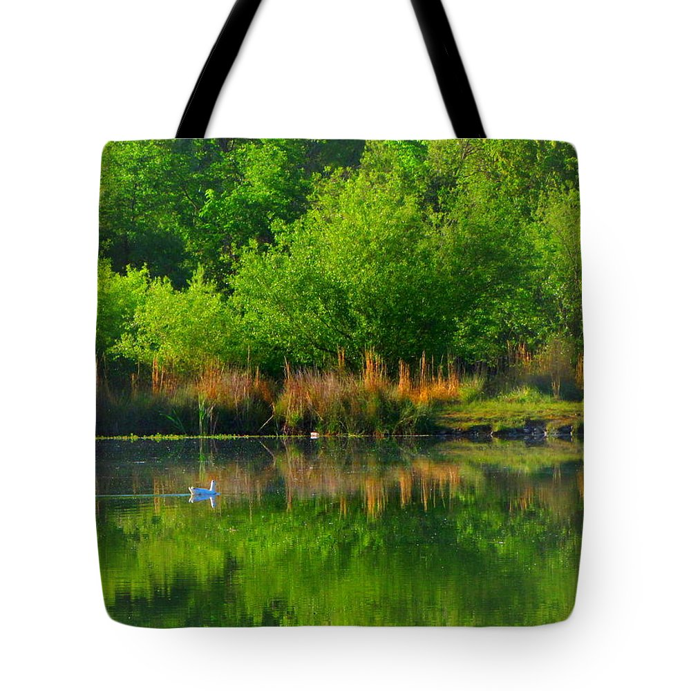 Pond Tote Bag featuring the photograph Naturally Reflected by Joyce Dickens