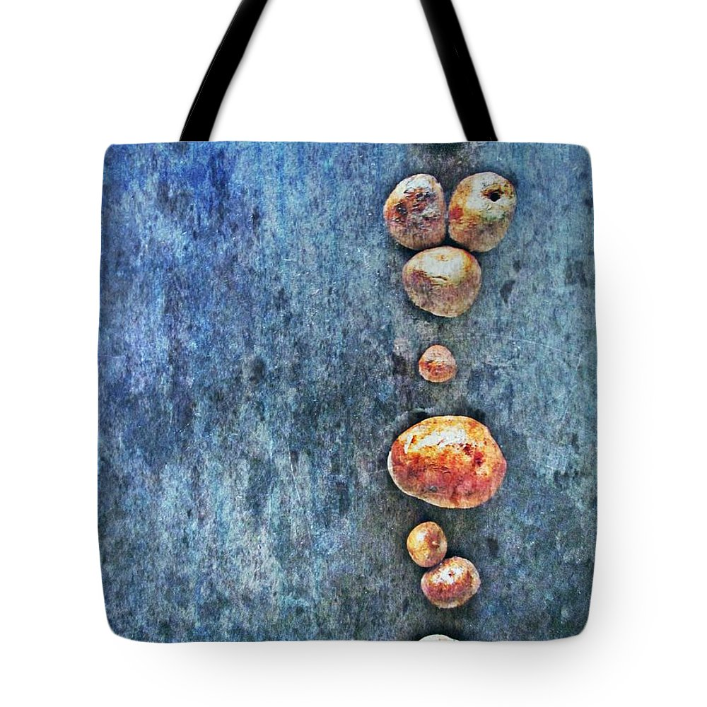 Nature Abstract Tote Bag featuring the digital art Nature Abstract 42 by Maria Huntley